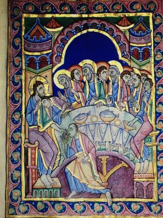 Last Supper from Psalter