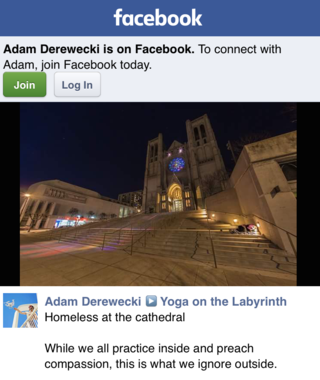 Homeless in the cathedral